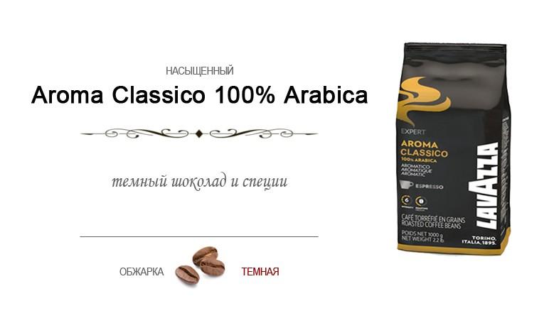 Оригинальный итальянский кофе в зернах Лавацца Арома Классико