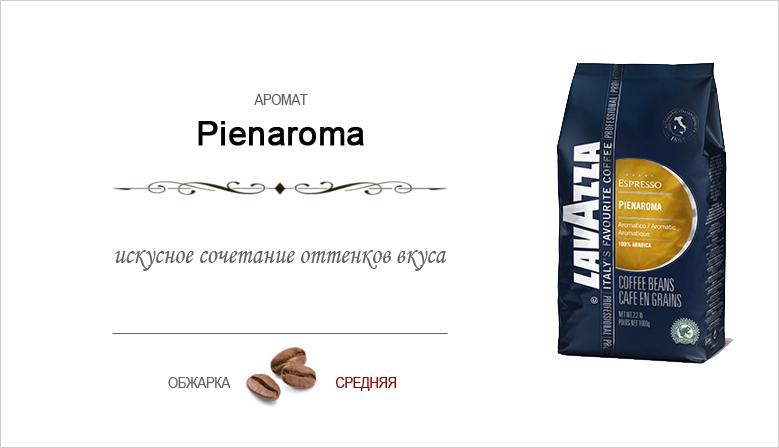 Lavazza Pienaroma купаж сладких сортов арабики 100% профессиональная серия